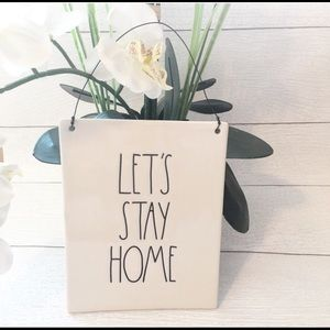 "NEW RAE DUNN "" Let's Stay Home"" Sign"